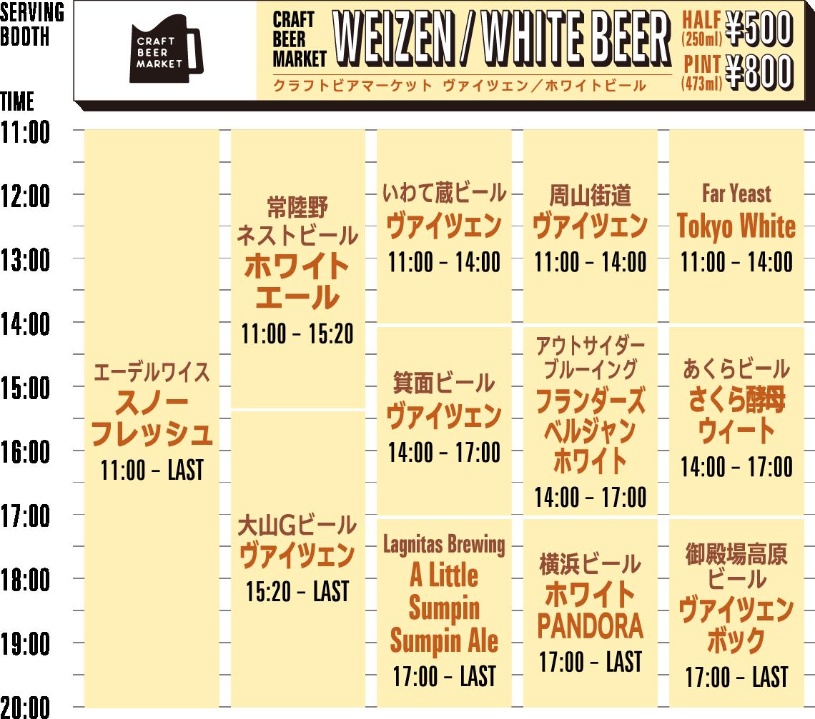 CBM WEIZEN/WHITEBEER timetable