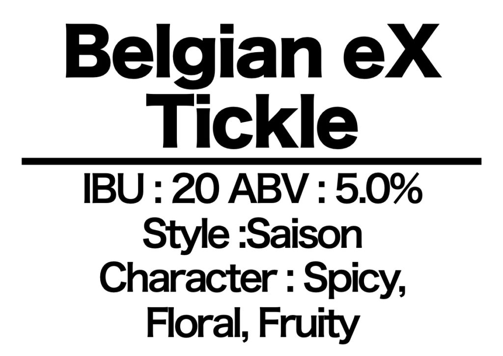 #19 Belgian eX Tickle