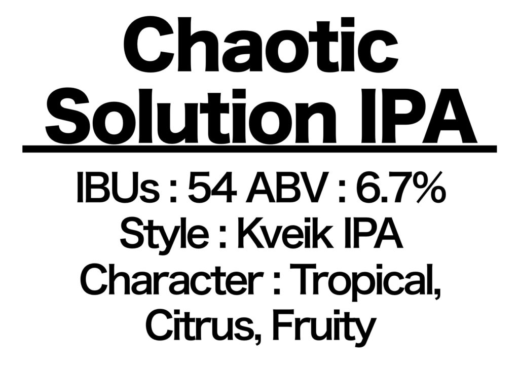 #65 Chaotic Solution IPA