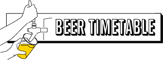 BEER TIMETABLE