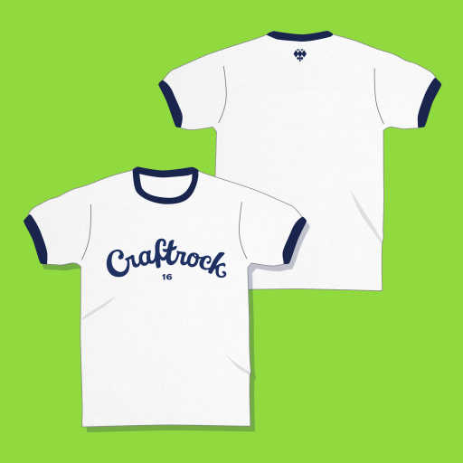 """""""Craftrock T""""White/Navy"""