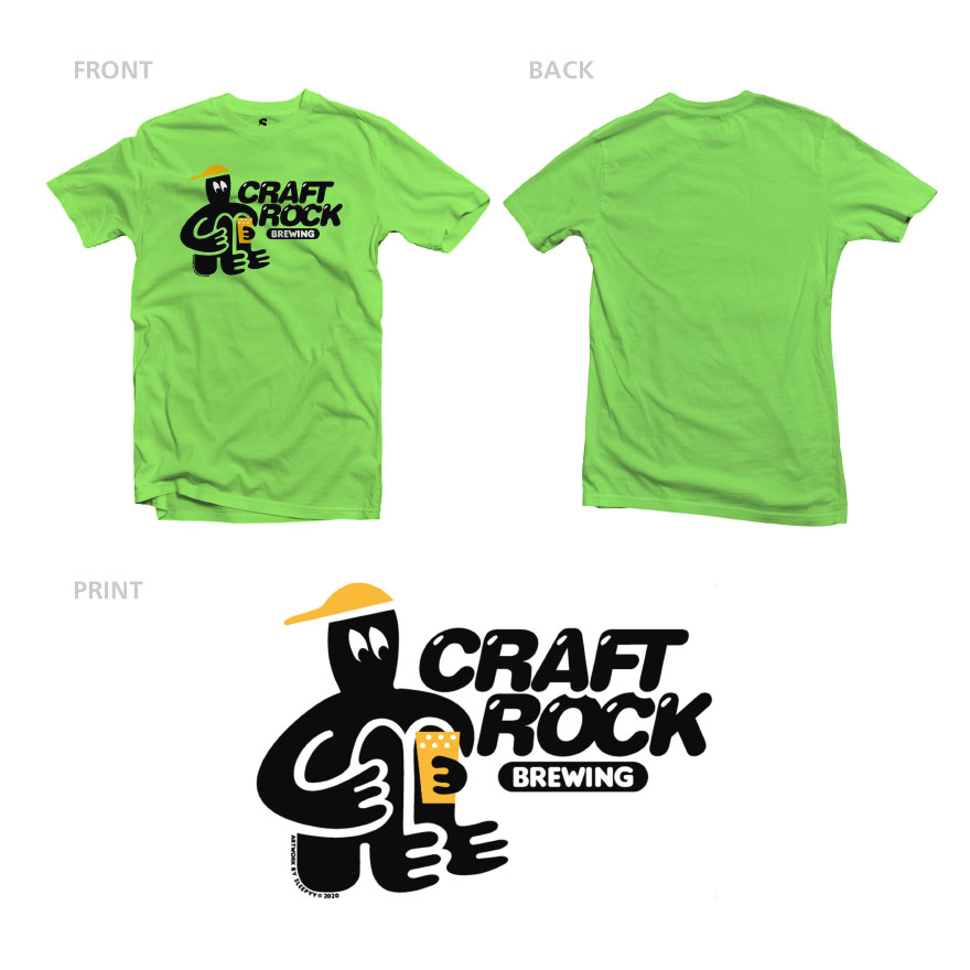 SLEEPYY × CRAFTROCK COLLAB. S/S TEE LIME GREEN